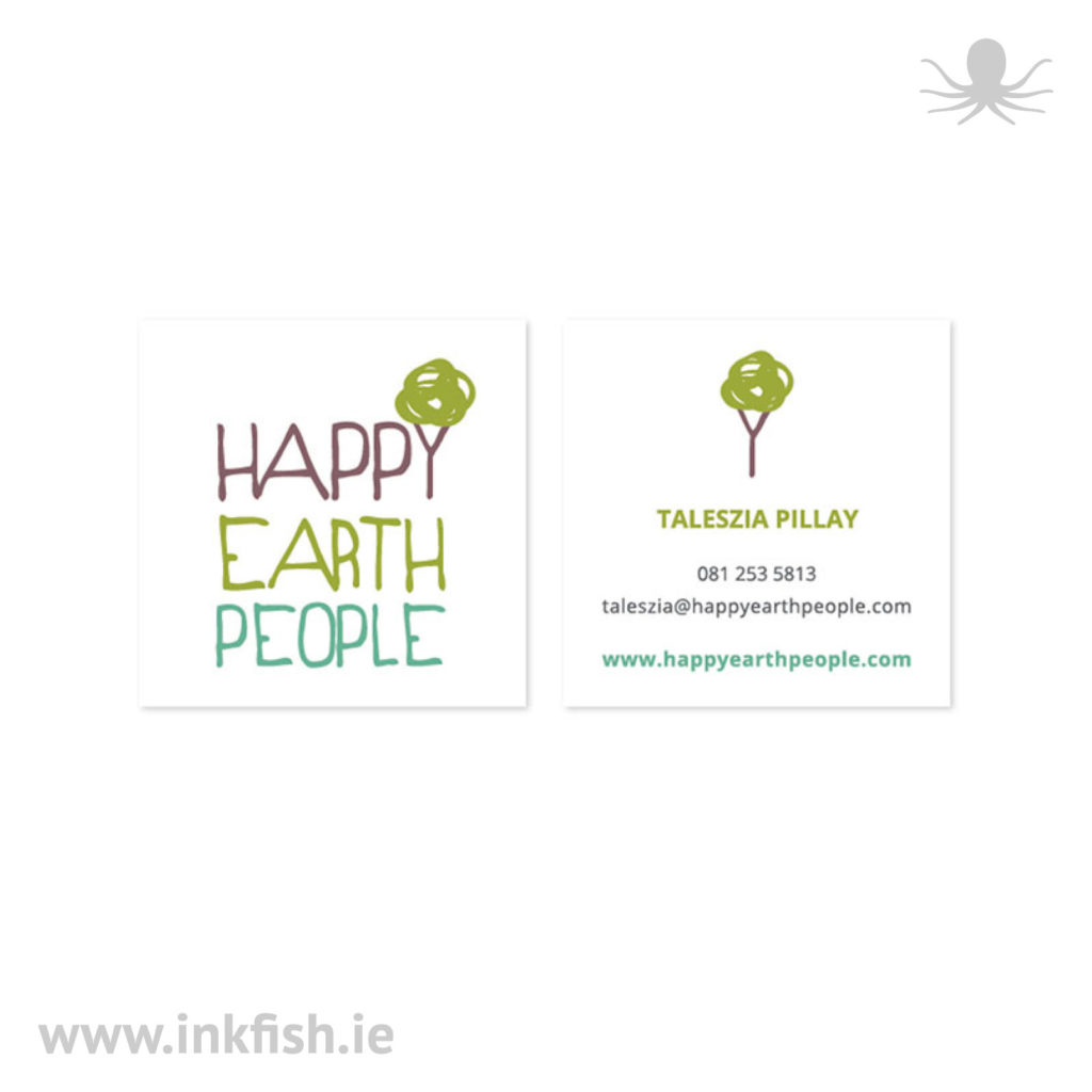 logo and business card for Happy Earth People